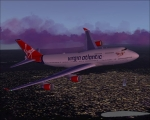 Virgin enroute to gatwick UK