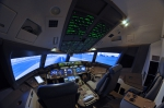 Home-built Boeing 777 flight simulator.