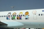 """The Peanuts"" on Condor 757-300"
