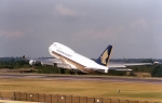 Singapore Airlines 747 Rotating