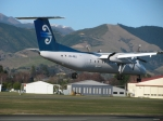 Dash 8 Touching Down At Nelson