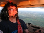 Me flying an airplane for the first time