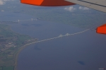 Severn Bridges photographed from an EasyJet Airbus