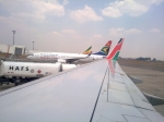 Wing View at Ndola Airport