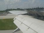 Landing in Miami Wing View