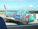 Aborigine Quantas 747-300