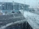 A319 at ALB in snow