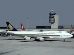 Singapore Airlines 747 at Zurich Airport