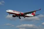 Kingfisher A330 on finals 27L EGLL / Heathrow
