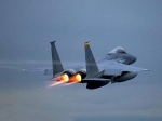 MD F-15 Eagle With Afterburners Lit