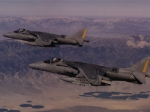 Two Harrier Jets over Desert