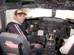 Me in 732 cockpit