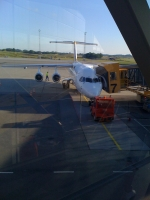 MA Avro RJ at the gate in Malmo