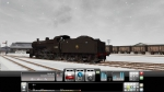 English Steam Train in Snow