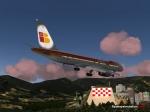 Iberia checkerboard landing