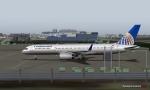 Continental 757 at Gatwick