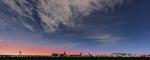 Delta 767's at sunset