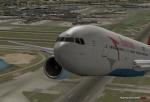 Austrian 777 taking off