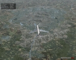 Thai 747 flying over Nuremberg