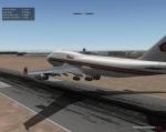Thai 747 Landing at Sevilla San Pablo