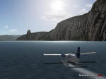Twin Otter landed in a fjord