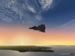 Saab Viggen over islands