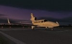 Piper Jet awaiting control